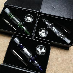 Fabrika Fiyatı Mini Nektar Koleksiyoncular Kiti Dab Petrol Kuyuları Borular Pyrex Cam Boru 10mm 14mm Ortak Titanyum Nail Pipetler NC10
