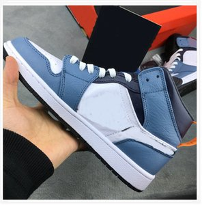 Quality Outdoor Shoes Light Blue AirShoes AJI J1 Mid Vintage Classical Mens Running Sports Training Shoes for Men Women Basketball Sneakers
