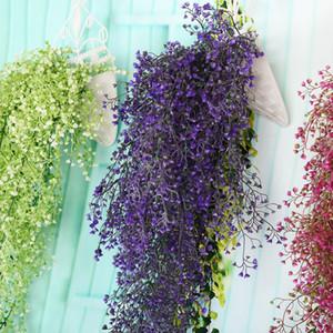 190 센치 메터 시뮬레이션 수국 꽃 스트립 보라색 벽 매달려 꽃 덩굴 웨딩 문자열 장식