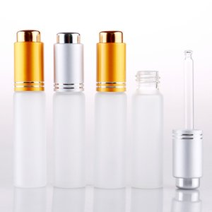 200pcs lot 20ML Mini Portable Frosted Glass Refillable Perfume Bottle Empty Cosmetic Parfum Vial With Dropper