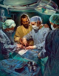 Nathan Greene CHIEF des medizinischen Personals Jesus in Operationssaal Wohnkultur HD-Druck-Ölgemälde auf Leinwand-Wand-Kunst-Leinwandbilder 200110