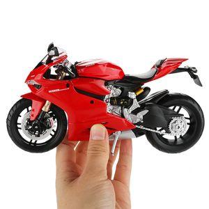 Maisto 1:12 Modèle vélo moteur de moto jouet en alliage voiture de course de véhicules 1199 Motos Modèles Voitures hors route jouets pour les enfants Y200109