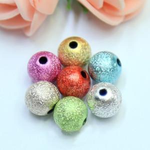 Runde Perlen Sprühfarbe Falten Perlen DIY Schmuck 6MM handgemachte Perlen Zubehör Multi-Color-Fabrik Direktvertrieb