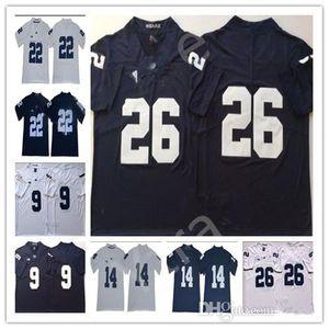 Saquon Barkley 2020 Penn State Nittany Львы Футбол 14 Sean Clifford 1 KJ Hamler 22 Эйкил Линч 9 Трассировка Максорли PSU Big College Джерси
