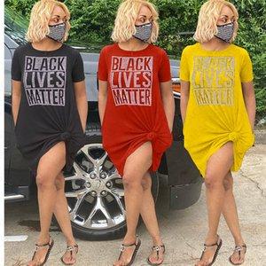 NEGRO VIVE camisa de gran tamaño importa camiseta del diseñador de las mujeres se visten de verano En general te floja Cubrir con los vestidos ocasional del bolsillo de tela S-3XL D7210