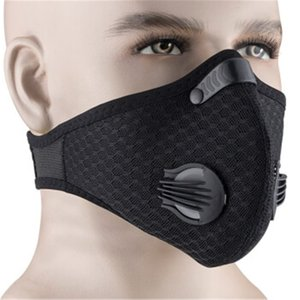 Free DHL Ship!100 Outdoor Headscarf 1Pcs Breathable Face Mouth 12*8Cm Pm2.5 5-Layer ed Activated Carbon Mask QARL2X