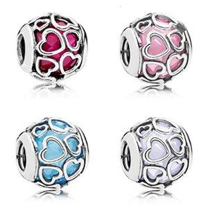 NOUVEAU 2017 Nouveau printemps Argent 925 Amour perle Multicolor Charm Bracelets perles Fit usine de bricolage 792036NOW 792036NCC 792036NBS 792036PCZ