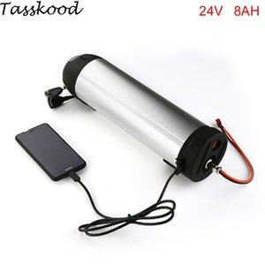Bicicleta elétrica bafang 24v 8ah 350w garrafa de água li ion bateria com carregador + porta usb
