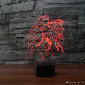 Lee Sin the Blind Monk 3D-Illusion Nachtlicht-Touch 7 Farbwechsel Home Decor Baby-Jungen-LED-Lampe-Kind-Geschenk Weihnachtsweihnachtsgeschenke