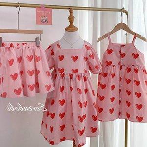 2020 Summer Girls Princess Heart Dress Kids Cotton Dress Korean Design Girls