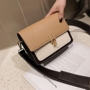 2019 Tasche berühmter Designer Frau Flut traf eine Schulter wilder Kabel Umhängetasche Schloss kleine quadratische Tasche Schultertasche Breitband