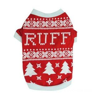 مستلزمات الحيوانات الأليفة عيد الميلاد الصدرية الملابس T-shirtssss قميص الكلب تي شيرت الشتاء الكلب مستلزمات الحيوانات الأليفة