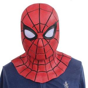 Película Vengadores 3 Máscaras Infinity guerra hierro hombre araña de Cosplay del hombre araña super héroe de látex Puntales adulto de Halloween