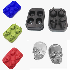 Creative Skull Head Silicone Ice Mould Drinking Wine Whisky Beverage Ice Cube Mold Party Bar Home Tools HHA1330