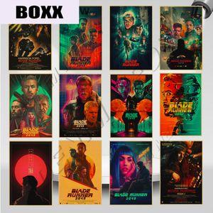 2020 Blade Runner 2049 americano Movie Poster metal Vintage Sinais Wall Art Poster Clube Pub placas do chique Artesanato Home Decor WY101