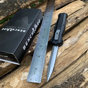 Hot Benchmade Mini Infidel Double Action Automatikmesser 3350 D2 Stahl Spear Point EDC Pocket Tactical Survival Messer mit Nylonscheide