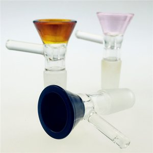 QBsomk 2020 sap kase huni Male kum saati renkli 14mm Sigara aksesuarları su borusu bonglar 18mm kase ile 5mm kalınlığında cam bong slaytlar
