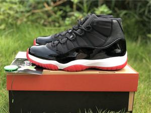 Nouveau Bred 11 Noir Rouge XI Hommes Chaussures de basket-ball 45 Concord coupe haute fibre de carbone Formateurs Gym Marine Midnight Bred Space Jam 72-10