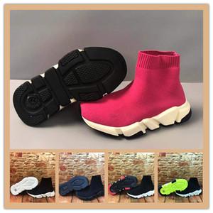 zapatos baratos libres del envío de los niños Speed Trainer niños de los zapatos corrientes de alta calidad de las zapatillas de deporte del bebé Speed Trainer calcetín Carrera Corredores zapatos 28-35