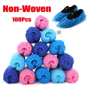 Cubiertas desechables para zapatos no tejido impermeable lluvia de zapatos de arranque de la cubierta Anti Slip cargador de lluvia Overshoes cubierta Cubiertas desechables 100pcs / lot CCA12205