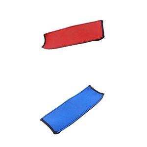 Kulaklık için 2 Yedek Kafa Kapak Konfor Yastığı Tampon Protector, Mavi + Kırmızı Paketi