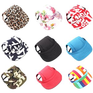 Pet Dog Cute Baseball Cap Hat Small Dogs Summer Outdoor Adjustable Hats with Ear Holes Headdress Accessories Dog Caps 2020 NEW