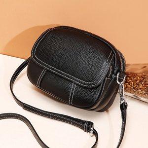Vento Marea Flap Shoulder Bag For Women 2020 New Zip Genuiner couro Bandoleira saco preto Verão Pequeno senhoras bolsa e bolsas