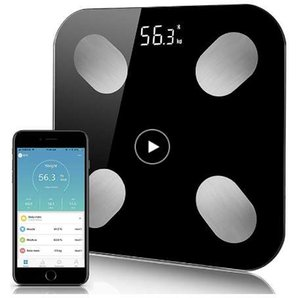 Bluetooth Body Fat Scale Analizador de composición corporal inalámbrico inteligente y exacto para báscula de baño digital con aplicación para teléfono inteligente