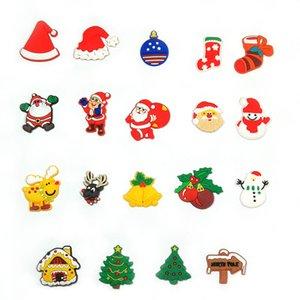 Top verkaufen1pcs Weihnachtsdekoration PVC-Schuh bezau Schnalle Zubehör fit für Croc JIBZ Kinder Xmas Tree-Party-Geschenke