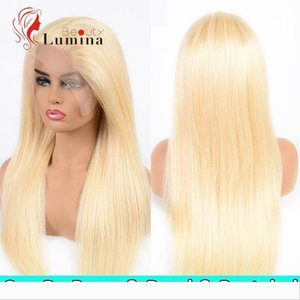 613 Blonde Human Hair Wig 13x4 Lace Front Wigs Pre Plucked Brazilian Straight Remy Hair Lace Front Wigs Blonde Color Can Be Dyed