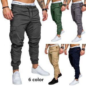 Marka Erkek Pantolon Hip Hop Harem Koşucular Pantolon Erkek Pantolon Erkek Koşucular Katı Klasik Haki çok cepli pantolon Sweatpants 3XL Drop Shipping