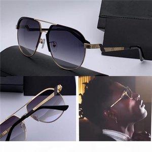Novo designer Óculos de sol homem 90838 metal aviator Retro meio quadro moda popular estilo de design alemão avant-garde com case