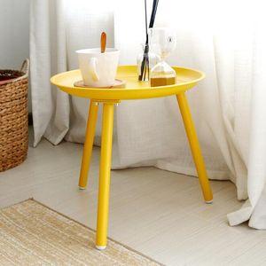 Mesa de té simple pequeño balcón familiar sala de estar hierro arte sofá lado algunos Mini personalidad pequeña mesa redonda esquina algunos