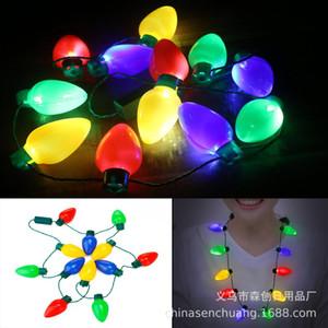 Sıcak 9 ışık Noel LED kolye büyük ampul ışık kolye dans parti süslemeleri