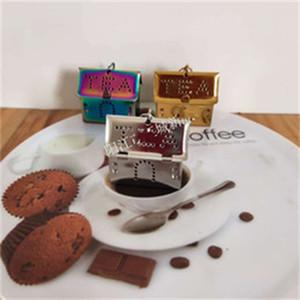 الإبداعية الشاي المصافي الفولاذ المقاوم للصدأ infusers اللون منازل أدوات الشكل Teaware جديد وصول عن طريق Nontinues 5 الجديدة 6xx C2