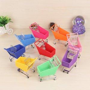 Mini Kunststoff Warenkorb Simulation Supermarkt Gartenwagen Mädchen Spielzeug Opp Paket Hohe Qualität Mit Verschiedenen Farben 6tc J1