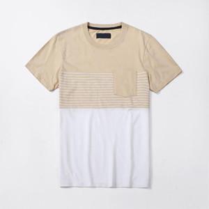 뜨거운 판매 남성 T 셔츠 캐주얼 스트라이프 반소매 클래식 남성 T 셔츠 힙합 남성 의류 크기 S-2XL