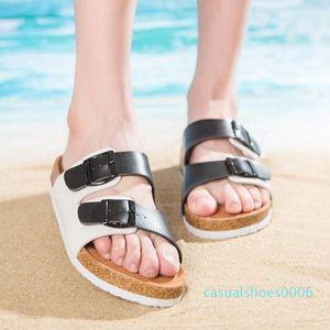 Men Women New Beach Cork Flip Flops Slipper Casual Summer Mixed Color Slip on Sandals Couple Flat Shoe Plus Size c06