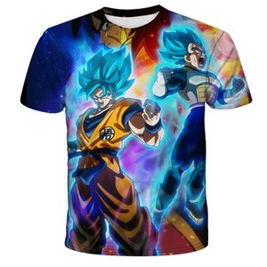 3D homens e mulheres de impressão personalidade anime Dragon Ball Z Goku Harajuku Marca T-shirt legal da moda camisa confortável de manga curta
