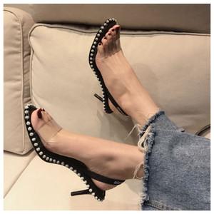 Nova kristal sandalet seksi kadın Sandals slingback yüksek topuklu 40'a ayakkabı boyutu 34 elbise süslenmiş