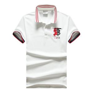 concepteur polo haute chemise de golf de qualité design de style britannique hommes mens manches courtes chemise de tennis Lapel HMPL64 hommes de luxe