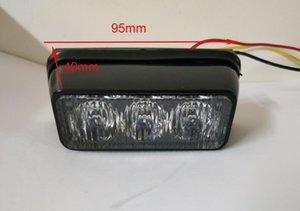 밝은 3W 자동차 표면 장착 비상 조명, 그릴 경고등, 브래킷과 스트로브 조명, 방수, 4pcs / 1lot