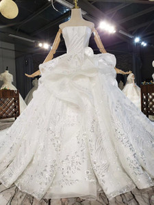 Light wedding bride 2020 new satin tube top super shiny piece elegant atmosphere luxury princess dream is thin and tall