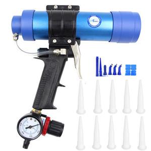310ML Air pistolet à calfeutrer / pneumatique Cartouche Distributeur scellant silicone applicateur en verre Gluing outil de construction pistolet à calfeutrer