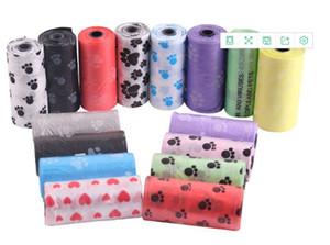 개 똥 가방 개 애완 동물 폐기물 똥 가방 롤 당 15 강아지 가방 임의의 색상 애완 동물 공급 무료 배송