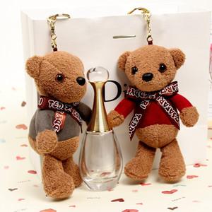 Oyuncak Ayı Anahtarlık Peluş Oyuncak Teddy Bear İmitasyon Kürk Pompon Kabarık Sırt Çantası Çanta kolye Peluş Oyuncak