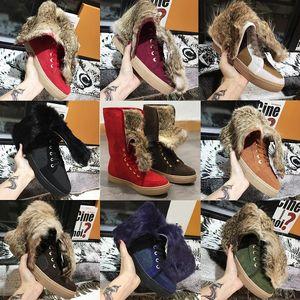 Лучшие качества зимы женщин пинетки Real Кролика Snow Boots Мода натуральной кожи Австралия Западная Kneel плоские туфли с коробкой US11