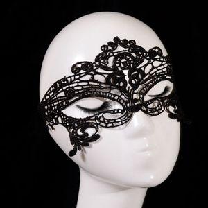 Black Mask Lady Lace Mask Fashion Hollow Eye Mask Masquerade Party Fancy Masks Halloween Venetian Mardi Party Costume RRA3052