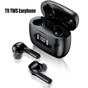 T9 TWS Беспроводной связи Bluetooth 5.0 наушников зарядного футляр LED дисплей водонепроницаемых наушников Авто Сопряжение Расстояние передача F9