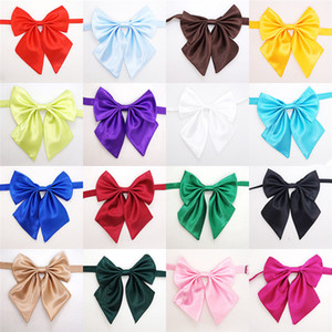 Many Pure colors bowknot necktie tie collar flower accessories decoration Supplies Pure color bowknot necktie Bow Tie Y2I1013